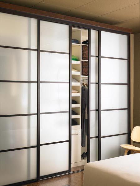 Modern Glass Closet Doors in 2020 | Modern closet doors, Bedroom .