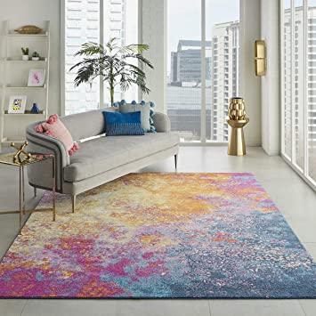 Amazon.com: Nourison Passion Modern Abstract Colorful Sunburst .