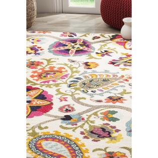 Safavieh Monaco Collection MNC229A Modern Colorful Floral Ivory .