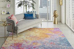 Amazon.com: Nourison Passion Modern Abstract Colorful Sunburst .