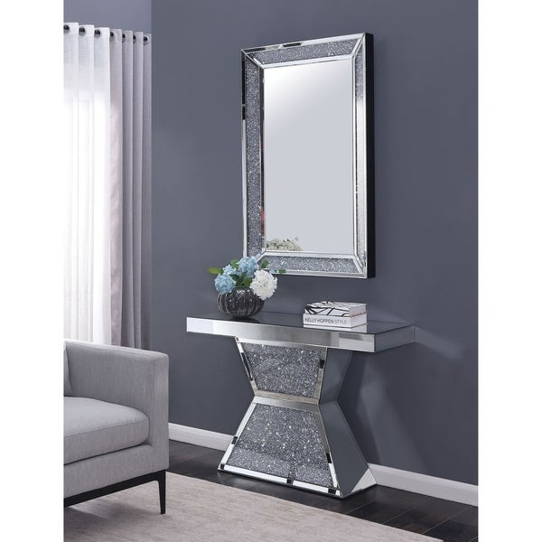 Shop Furniture of America Huck Sliver 2-piece Console Table and .