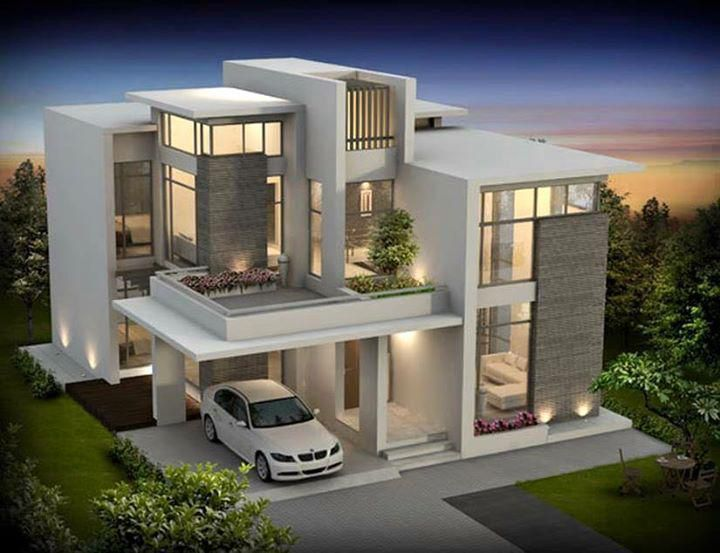 Modern contemporary house architecture | Best modern house design .