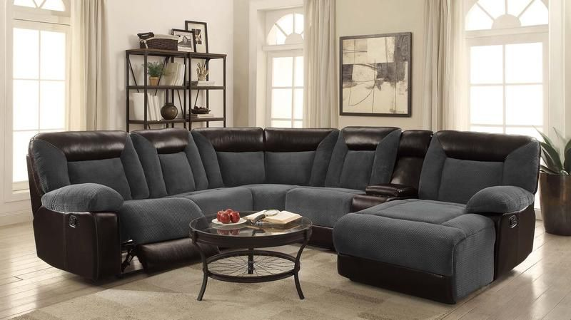 Furniture of America Manchester Sectional | Reclining sectional .