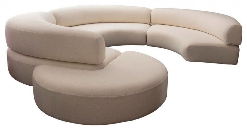 Beautify Your Living Room with Curved Sofa | Curved sofa, Leather .