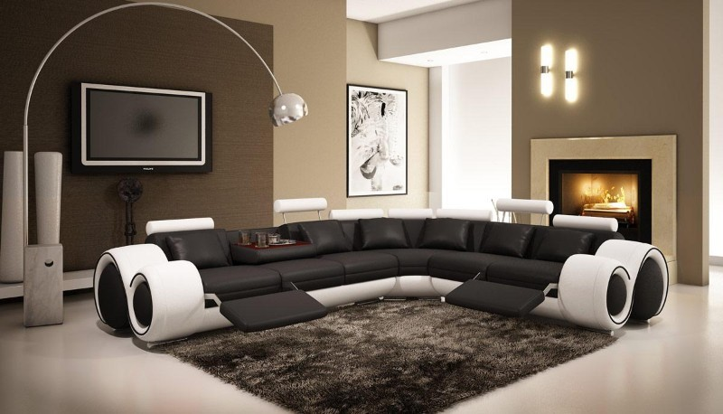 Superb sectional sofas with recliners in Living Room Modern with .