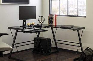 Amazon.com: Walker Edison Furniture Company Modern Corner L Shaped .