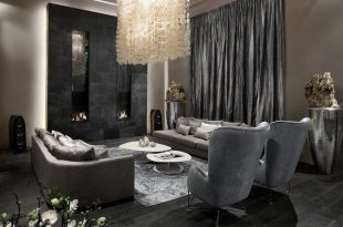 Black and grey living room ideas – modern home interiors in dark .