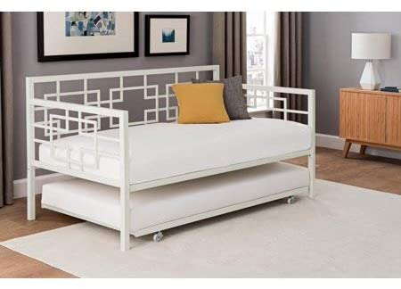 Amazon.com: Contemporary Bed Daybed with Roll-Out Twin Size .