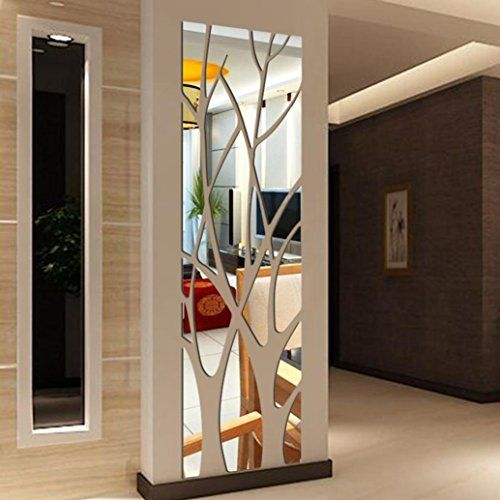 Modern wall mirror design ideas for living room wall decoration 20