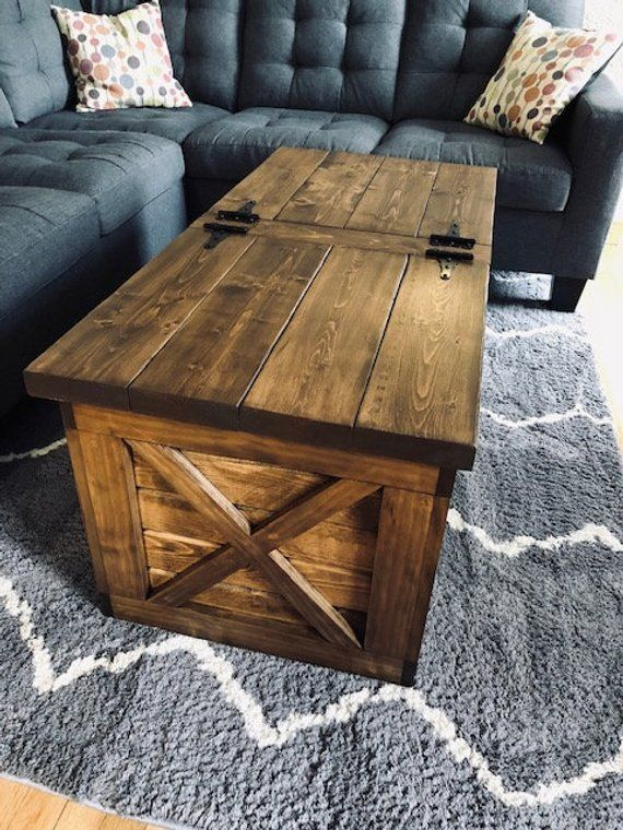 Farmhouse Storage Coffee Table (Free Shipping) in 2020 | Coffee .