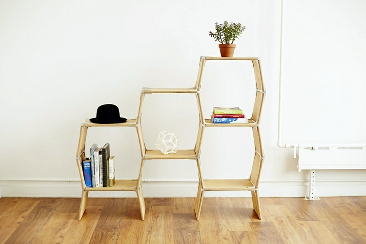 Modern designer furniture, can be constructed without tools .