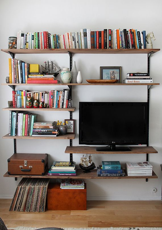 diy mounted shelving | Small space living, Small spaces, Small .