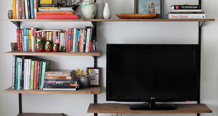 How To: Make a Modern-Industrial DIY Mounted Shelving Unit   Small .