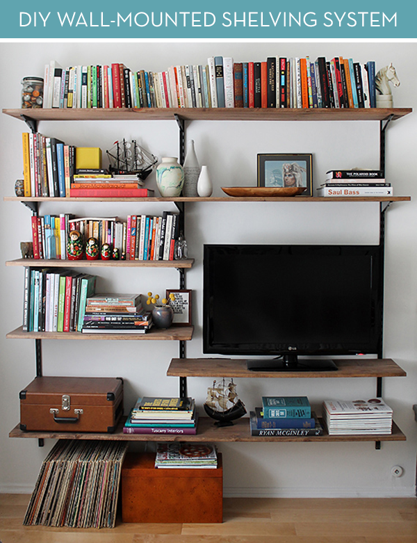 How To: Make a Modern-Industrial DIY Mounted Shelving Unit | Small .