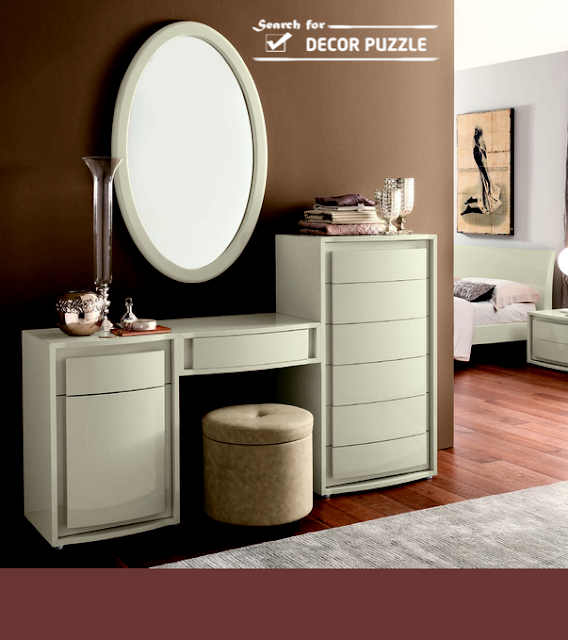 Latest Modern dressing table designs for contemporary bedroom .