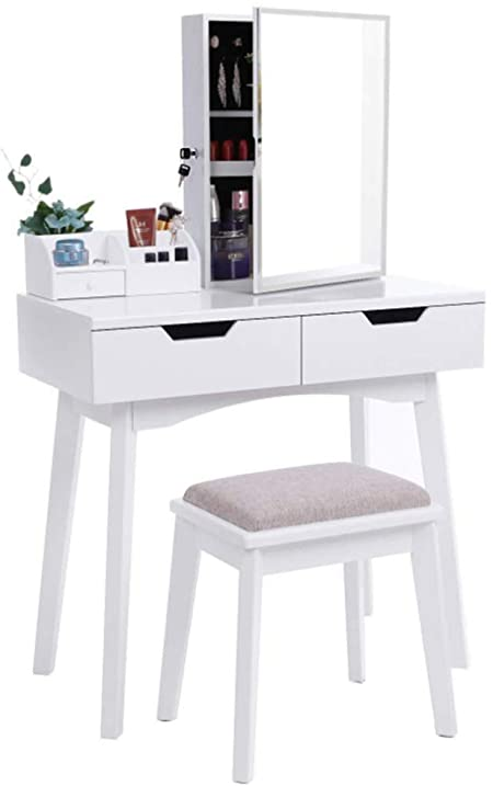 Amazon.com: AILOVE Modern Dressing Table, Wooden Makeup Table .