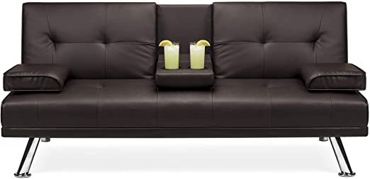 Amazon.com: Best Choice Products Modern Faux Leather Convertible .
