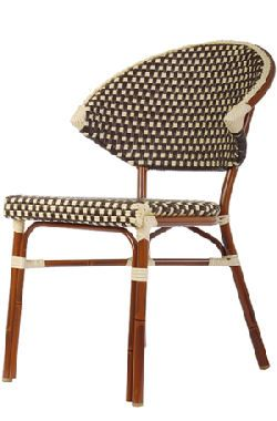 Obsessed with this modern take on the french bistro chair.   Round .