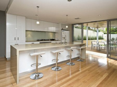 Modern Galley Kitchen Designs With   Island