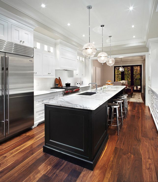 Long Kitchen Island - Transitional - kitchen - The Design Company .