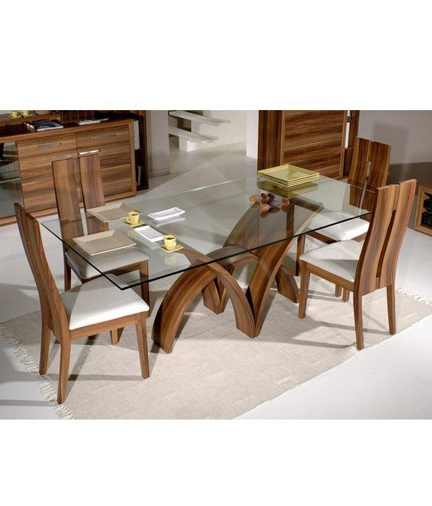 Modern Glass Top Kitchen Table And   Chairs