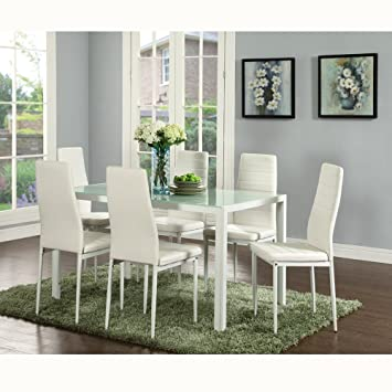 Amazon.com - EBS 7 Piece Kitchen Dining Table Set for 6 with .