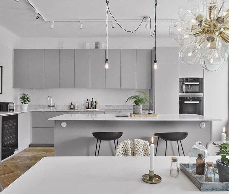 Modern Grey Kitchens Best Designs | Modern kitchen design, Kitchen .