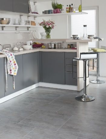 kitchen floor tiles Design ideas | Grey kitchen floor, Kitchen .
