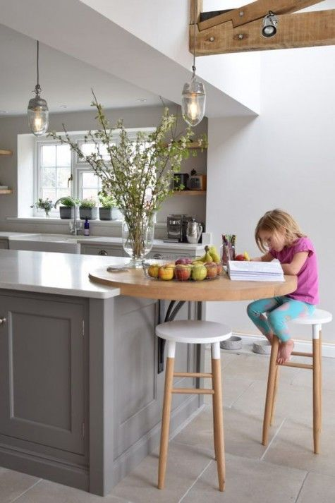 25 Breakfast Bar Ideas For Tiny Kitchens (With images) | Kitchen .