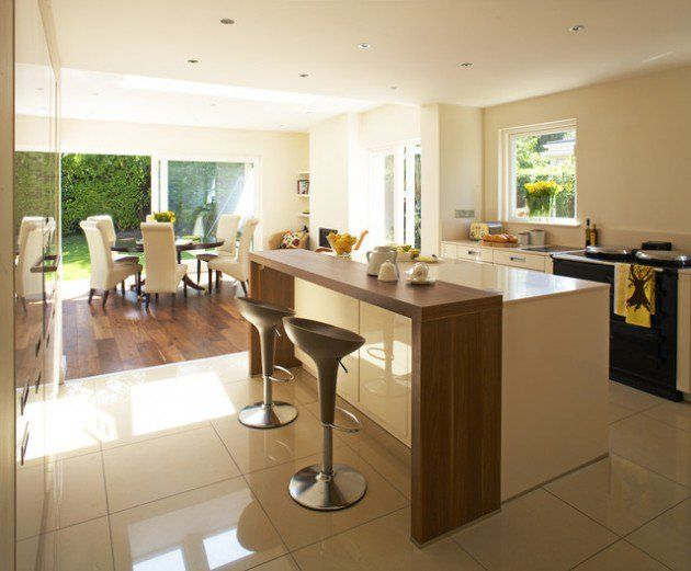 30 Elegant Contemporary Breakfast Bar Design Ideas | Kitchen .