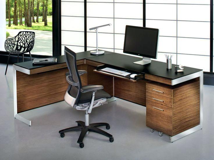 L Shaped Office Desk Modern | Home office furniture desk, Modern .
