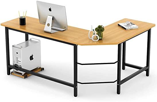 Amazon.com: Tribesigns Modern L-Shaped Desk Corner Computer Desk .