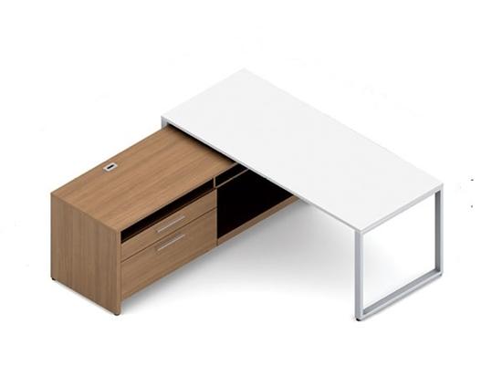 GLBDE02151 Global Modern L Shaped Desk with Stora
