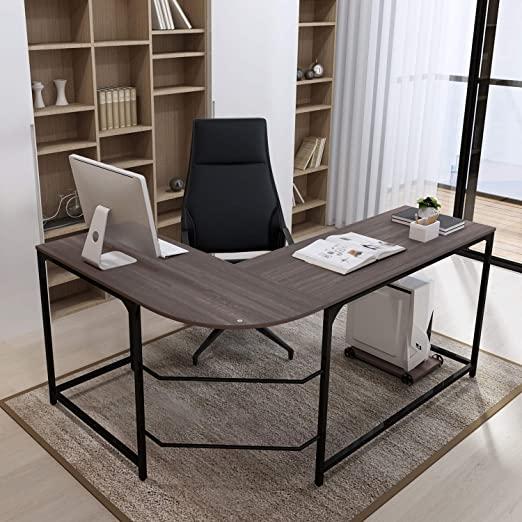 Amazon.com: Teraves Reversible L-Shaped Desk Corner Gaming .