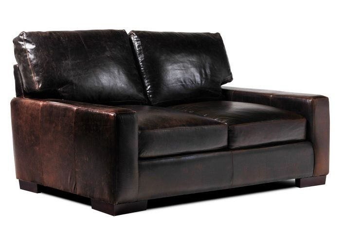 Modern Leather Loveseats For Small Spaces | Chair | Leather .