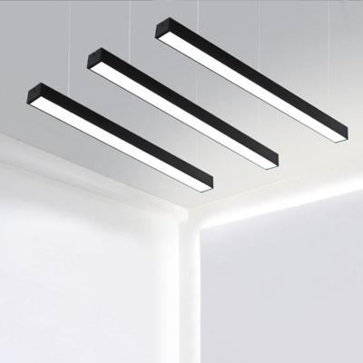 AC110-240V 6000K Bright White Light Modern Linear LED Pendant .