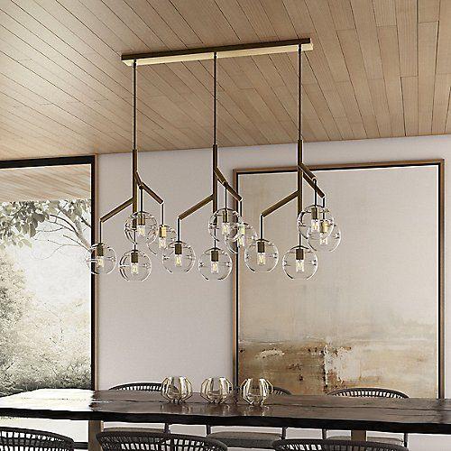 Sedona Linear Suspension | Linear chandelier, Chandelier shades .