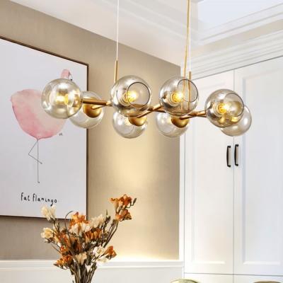 Dining Room Restaurnat Post Modern Decorative LED Linear Pendant .