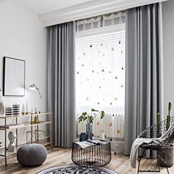 Amazon.com: BigTown Linen Blackout Curtains 2 Panels Room .