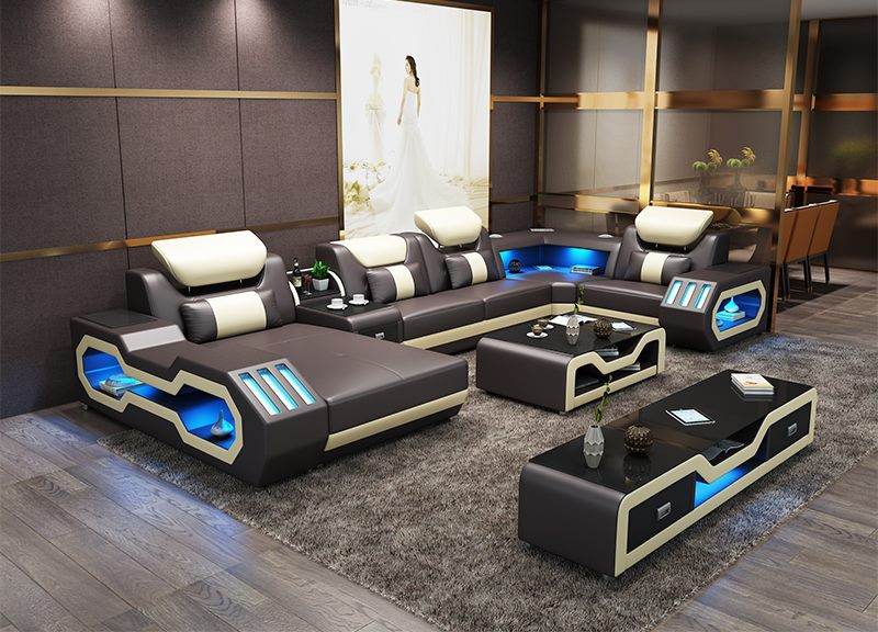 Custom made top quality living room furniture living room sofa set .