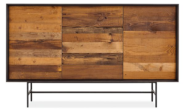 McKean Storage Cabinets in Reclaimed Wood - - Modern Living Room .