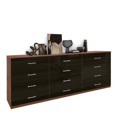 Modern 12 Drawer Triple Dresser   Contempo Spa
