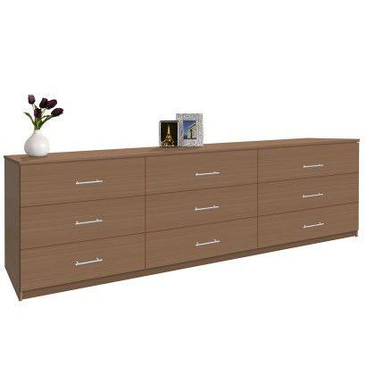 Modern 9 Drawer Triple Dresser - 8 Feet Long | Furniture, Long .