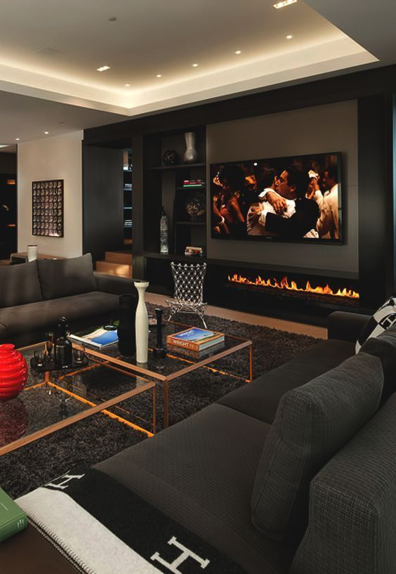 Modern Man Cave Furniture Ideas in 2020 | Living room interior .