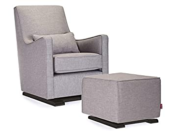 Amazon.com: Monte Design Upholstered Modern Nursery Luca Glider .