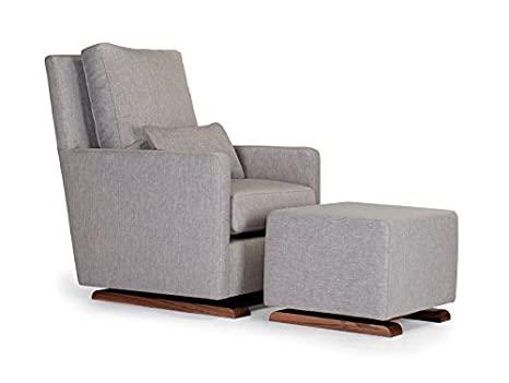 Amazon.com: Monte Design Upholstered Modern Nursery Como Glider .