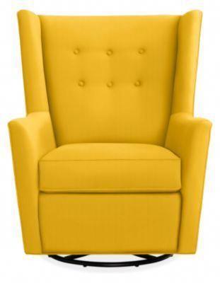 Wren Swivel Glider Chair & Ottoman - Modern Rockers & Gliders .