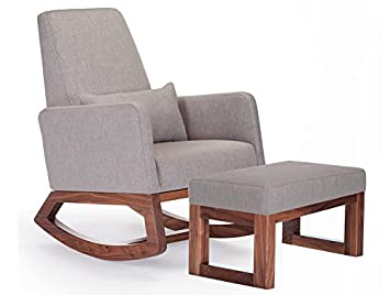 Amazon.com: Monte Design Upholstered Modern Joya Rocking Chair and .