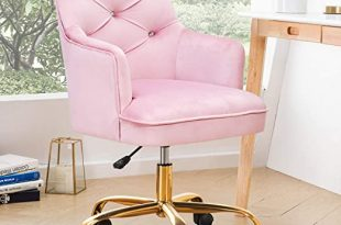 Amazon.com: OVIOS Cute Desk Chair,Plush Velvet Office Chair for .