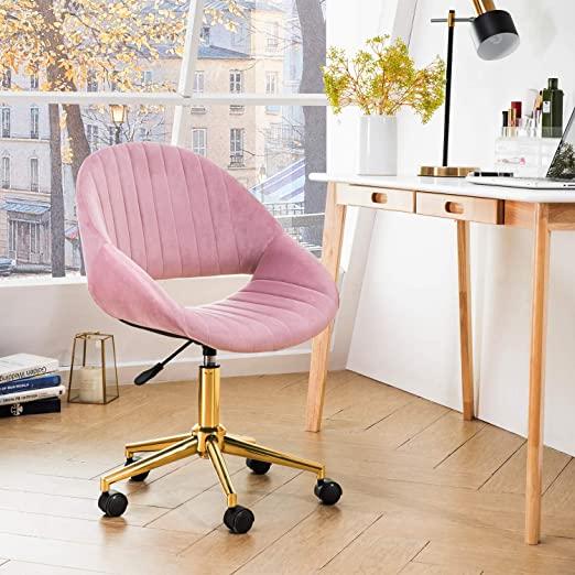 Amazon.com: OVIOS Cute Desk Chair,Plush Velvet Office Chair for .